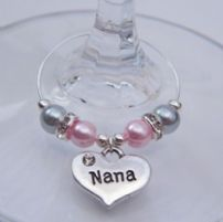 Nana Wine Glass Charms